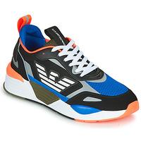 Shoes Men Low top trainers Emporio Armani EA7 XK165 Black / Blue / Orange