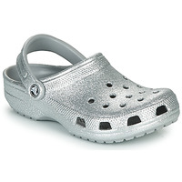 Shoes Women Clogs Crocs CLASSIC GLITTER CLOG Silver