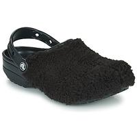 Shoes Women Clogs Crocs CLASSIC FUZZ MANIA CLOG Black