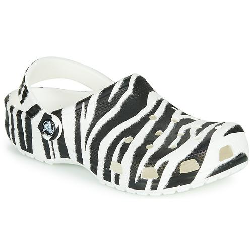 Shoes Women Clogs Crocs CLASSIC ANIMAL PRINT CLOG Zebra
