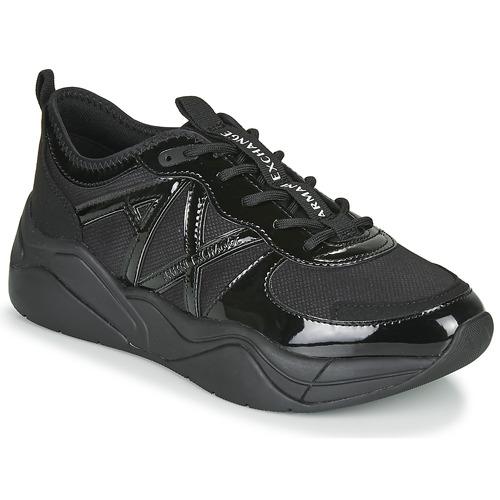 Shoes Women Low top trainers Armani Exchange BALDA Black