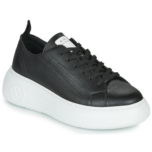 Shoes Women Low top trainers Armani Exchange XCC64-XDX043 Black