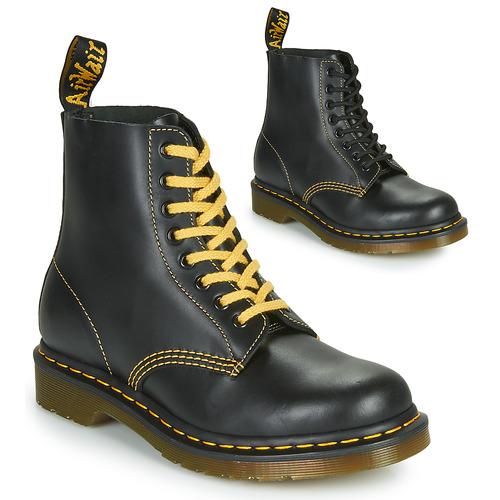 Shoes Men Mid boots Dr Martens 1460 PASCAL ATLAS Black