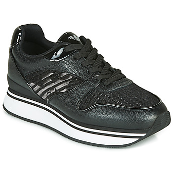 Shoes Women Low top trainers Emporio Armani  Black