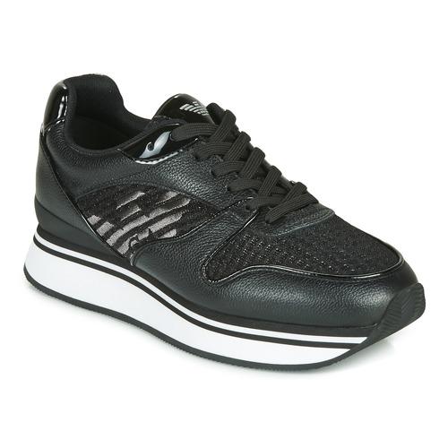 Shoes Women Low top trainers Emporio Armani X3X046-XM547 Black