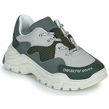 Shoes Children Low top trainers Emporio Armani XYX008-XOI34 Green / Grey