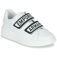 Shoes Children Low top trainers Emporio Armani XYX007-XCC70 White / Black