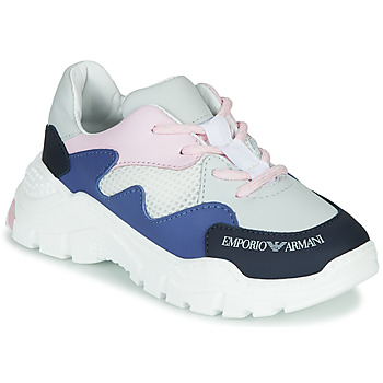 Shoes Boy Low top trainers Emporio Armani  White / Blue