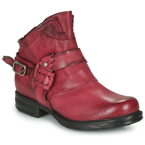 Shoes Women Mid boots Airstep / A.S.98 SAINT EC STRAPE Bordeaux