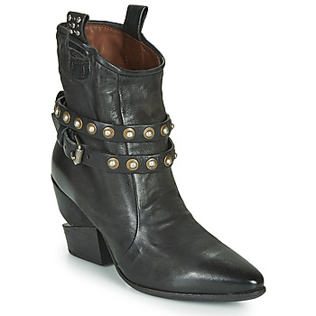 Shoes Women Ankle boots Airstep / A.S.98 TINGET BUCKLE Black