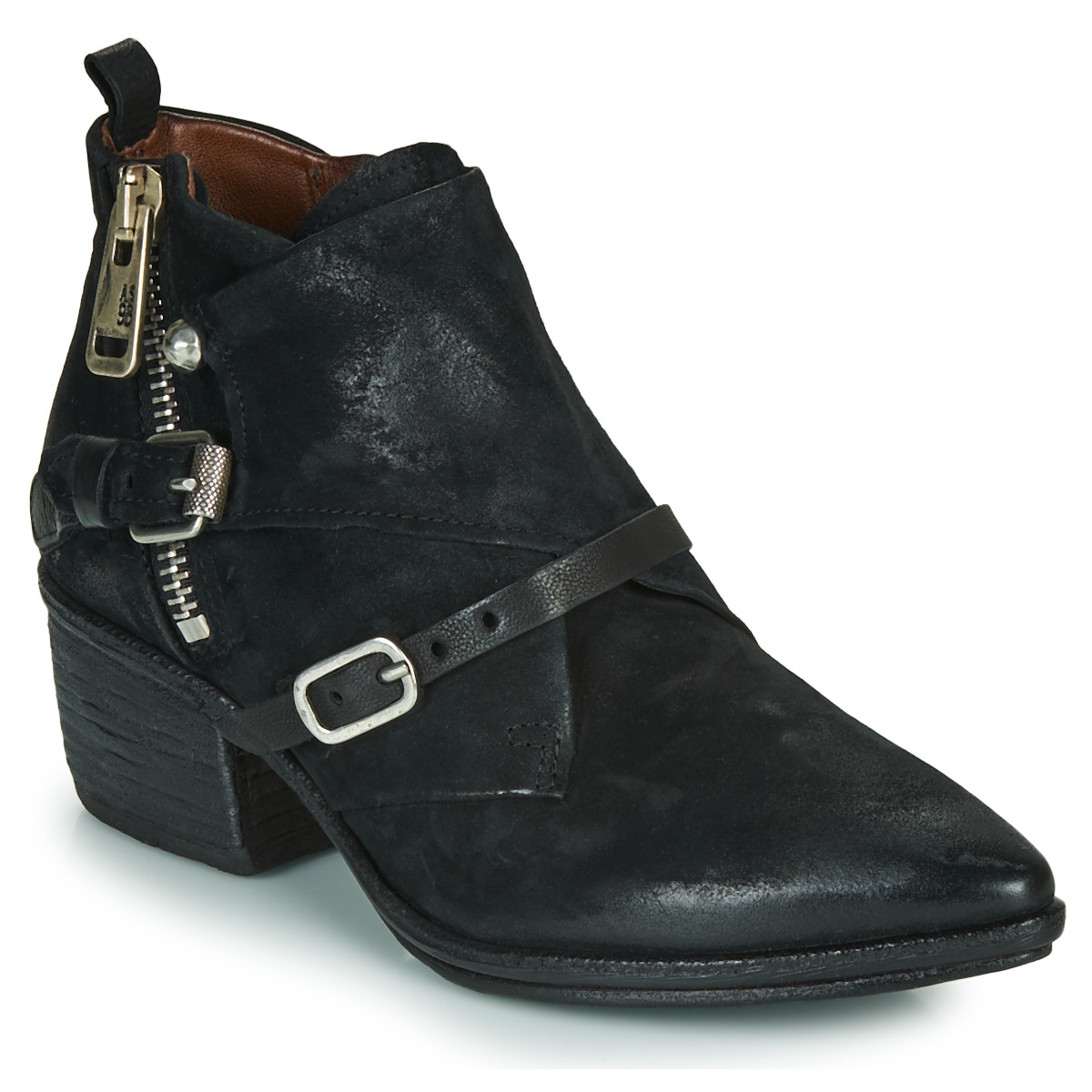 airstep / a.s.98  parade buckle  women's low ankle boots in black