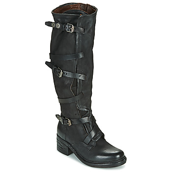 Shoes Women High boots Airstep / A.S.98 NOVA 17 BUCKLE Black