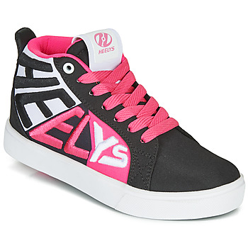 Shoes Girl Wheeled shoes Heelys RACER 20 MID Black / Multicolour