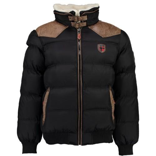 Clothing Boy Duffel coats Geographical Norway ABRAMOVITCH BOY Black