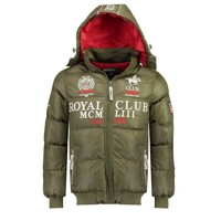 Clothing Boy Duffel coats Geographical Norway AVALANCHE BOY Kaki