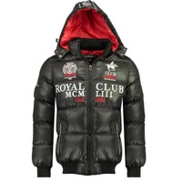 Clothing Boy Duffel coats Geographical Norway AVALANCHE BOY Black