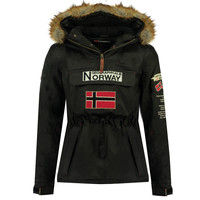 Clothing Boy Parkas Geographical Norway BARMAN BOY Black