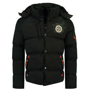 Clothing Boy Duffel coats Geographical Norway VERVEINE BOY Black