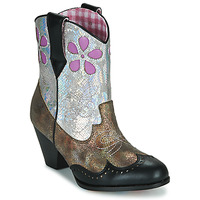 Shoes Women Mid boots Irregular Choice POLLYWOOD Brown / Silver