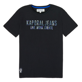 Clothing Boy Short-sleeved t-shirts Kaporal OBRAG Black
