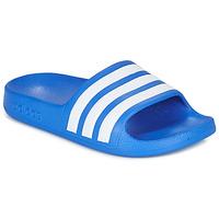 Shoes Boy Sliders adidas Performance ADILETTE AQUA K Blue / White