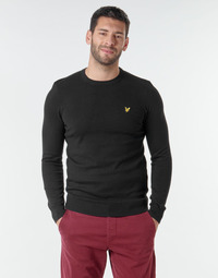Clothing Men Jumpers Lyle & Scott KN400VC Black