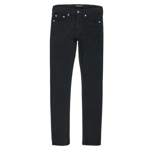 Clothing Boy Straight jeans Teddy Smith FLASH Black