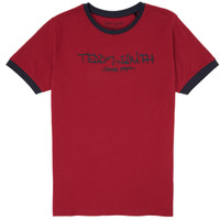 Clothing Boy Short-sleeved t-shirts Teddy Smith TICLASS 3 Red