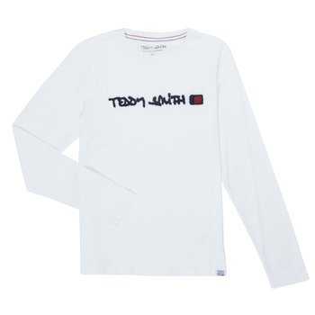 Clothing Boy Long sleeved tee-shirts Teddy Smith CLAP White