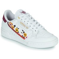 Shoes Women Low top trainers adidas Originals CONTINENTAL 80 W White / Flowers