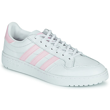 Shoes Women Low top trainers adidas Originals TEAM COURT W White / Pink
