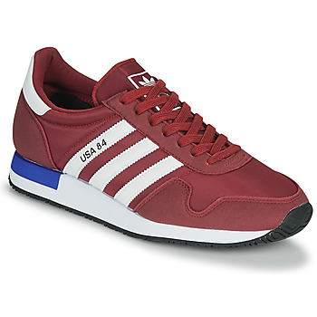 Shoes Low top trainers adidas Originals USA 84 Bordeaux / White