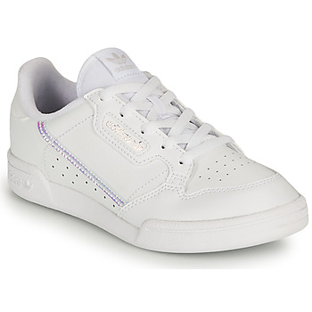 Shoes Girl Low top trainers adidas Originals CONTINENTAL 80 C White / Iridescent