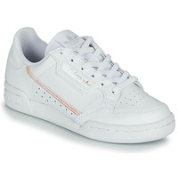 Shoes Girl Low top trainers adidas Originals CONTINENTAL 80 J White / Iridescent