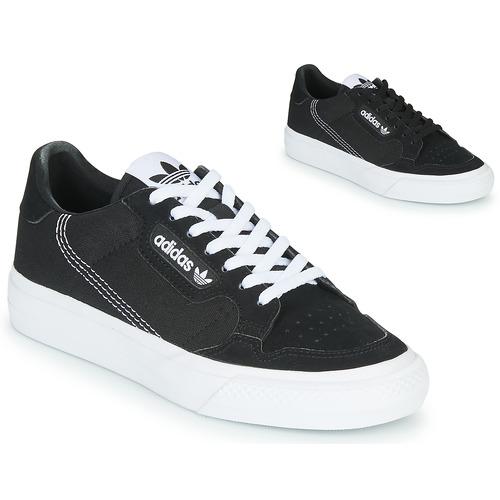 Shoes Children Low top trainers adidas Originals CONTINENTAL VULC J Black