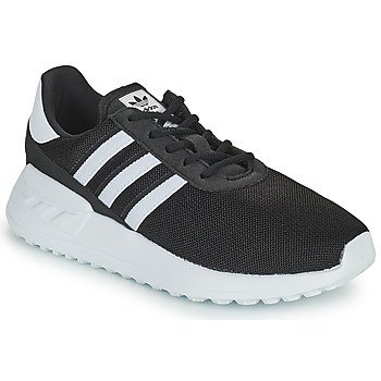 Shoes Children Low top trainers adidas Originals LA TRAINER LITE C Black / White