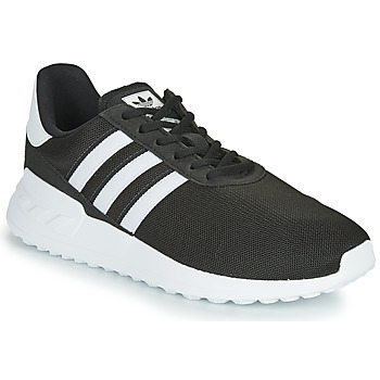 Shoes Children Low top trainers adidas Originals LA TRAINER LITE J Black / White