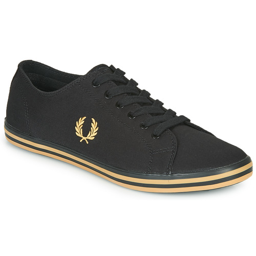 Shoes Men Low top trainers Fred Perry KINGSTON TWILL Black / Gold