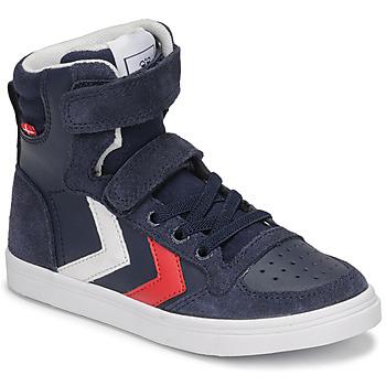 Shoes Children Hi top trainers Hummel SLIMMER STADIL HIGH JR Blue