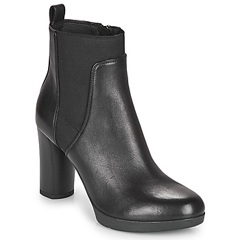 Shoes Women Ankle boots Geox ANYLLA HIGH Black