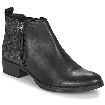 Shoes Women Ankle boots Geox LACEYIN Black / Silver