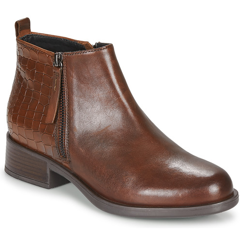 Shoes Women Mid boots Geox RESIA Brown