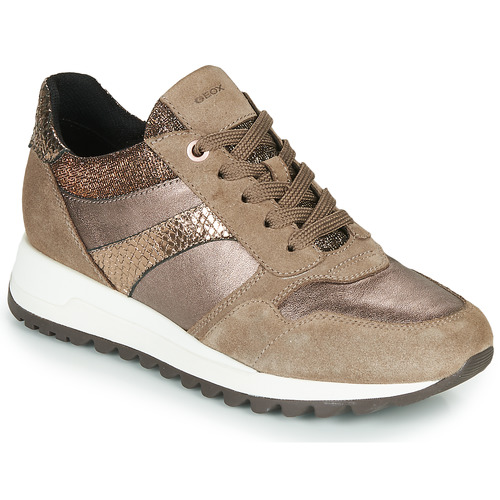 Shoes Women Low top trainers Geox TABELYA Beige