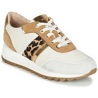 Shoes Women Low top trainers Geox TABELYA White / Leopard