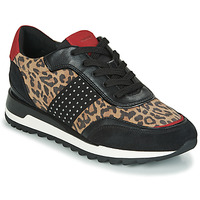 Shoes Women Low top trainers Geox TABELYA Leopard / Black