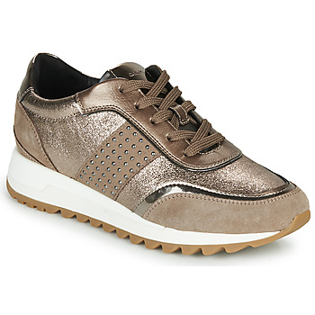 Shoes Women Low top trainers Geox TABELYA Bronze