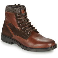 Shoes Men Mid boots Geox ALBERICK Cognac