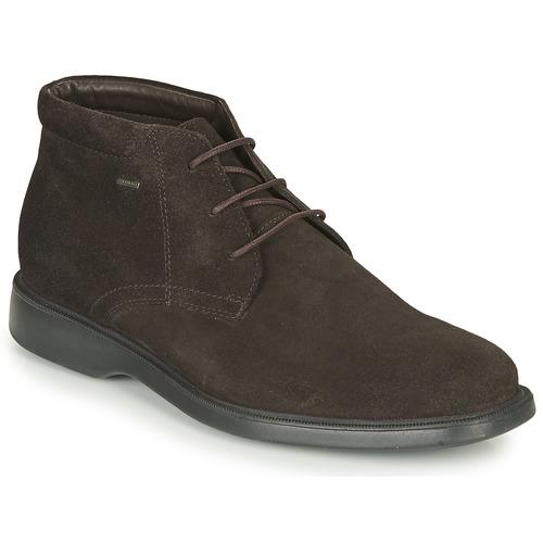 Shoes Men Mid boots Geox BRAYDEN 2FIT ABX Brown
