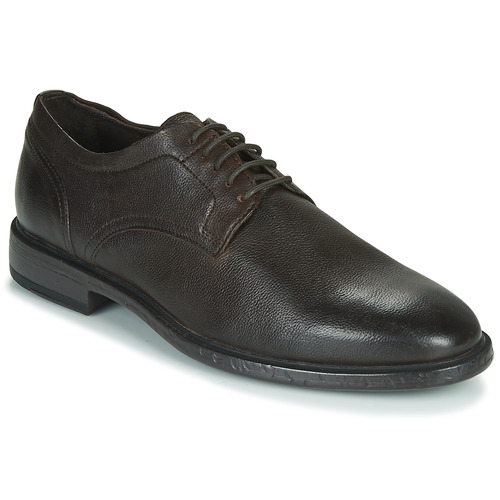 Shoes Men Derby Shoes Geox TERENCE Brown