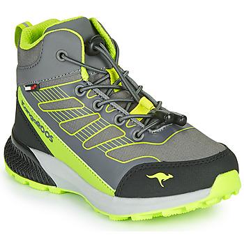 Shoes Boy Hi top trainers Kangaroos K-SCOUT RTX Grey / Green